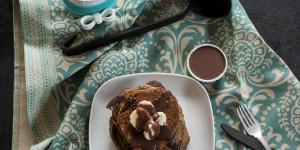 Pancake alle banane, grano saraceno e cioccolato