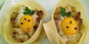 Caccavelle barzotte con patate, funghi e tartufo