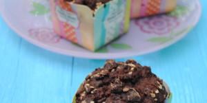 Muffin al doppio cioccolato al peperoncino e burro di sesamo