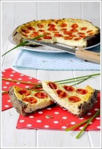 torta salata saraceno ricotta pomodorini - Gluten Free Travel and Living