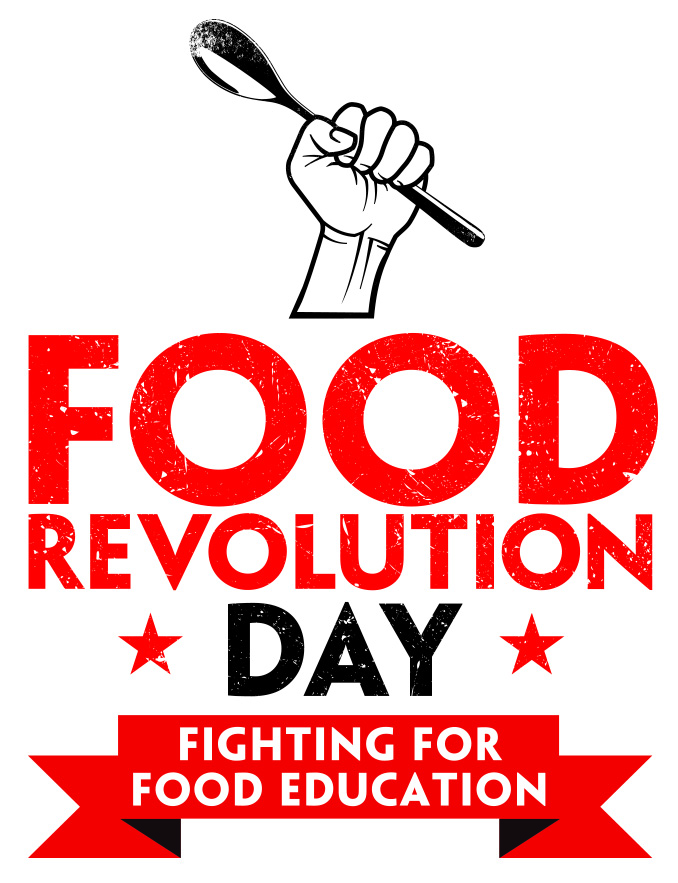 Logo ufficiale del Food Revolution Day di Jamie Oliver - Gluten Free Travel and Living
