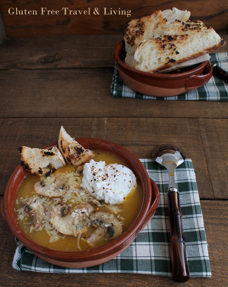 Vellutata di patate e zucca con funghi gluten free - Gluten Free Travel and Living