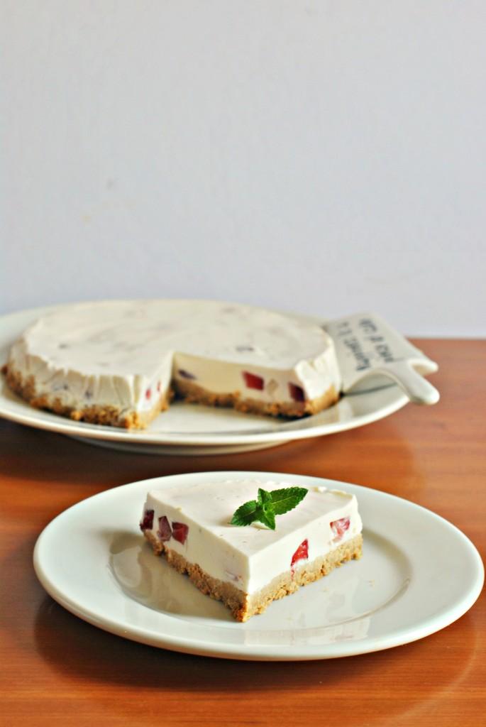 cheesecake di fragole senza glutine