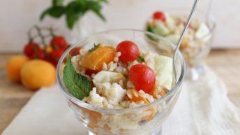 Insalata di riso e albicocche senza glutine