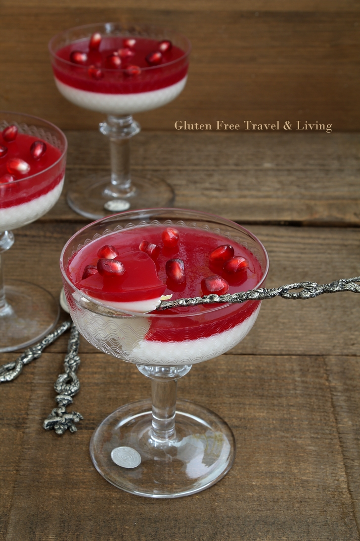 Panna cotta con gelée di melagrana - Gluten Free Travel and Living