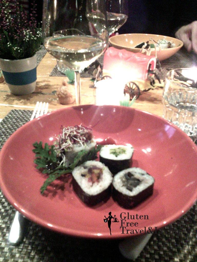 Sushi sano perché vegetariano - Ristorante Quinoa - Firenze
