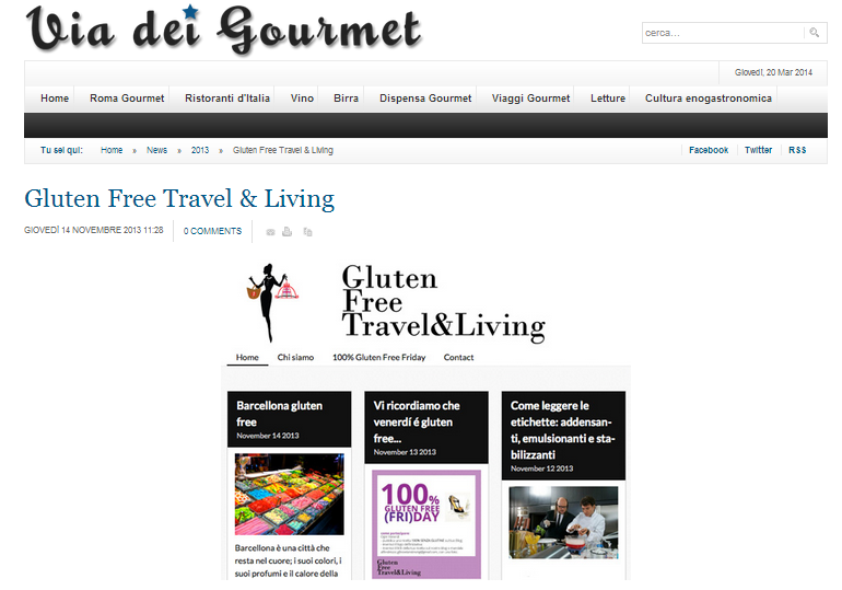 via dei gourmet - Gluten Free Travel and Living