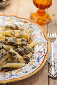 pasta-olive-capperi-e-carciofi di Stefania Oliveri - Gluten Free Travel and Living