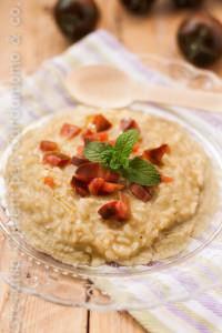 risotto con mousse di melanzane e pomodori saporiesaporifantasie - Gluten Free Travel and Living