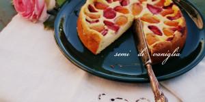 Torta di ricotta con fragole e albicocche (gluten free)