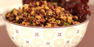 insalata di riso venere e lenticchie