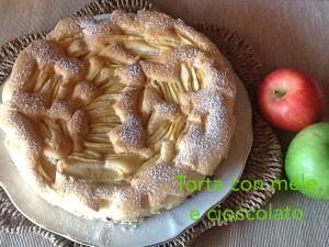 torta con mele e cioccolato - Gluten Free Travel and Living