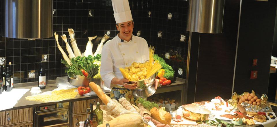 Lo chef Fabio Mariuzzo del BHR Treviso Hotel e di DiVino Osteria Trevigiana