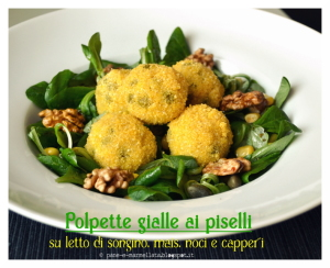 polpette gialle ai piselli  - Gluten Free Travel and Living