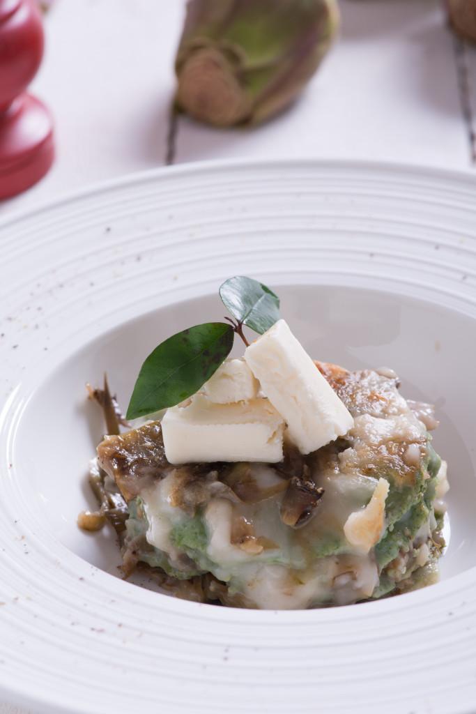 Lasagnette con carciofi e Taleggio dello chef Marco Scaglione, fotografo Iuri Niccolai - Gluten Free Travel and Living