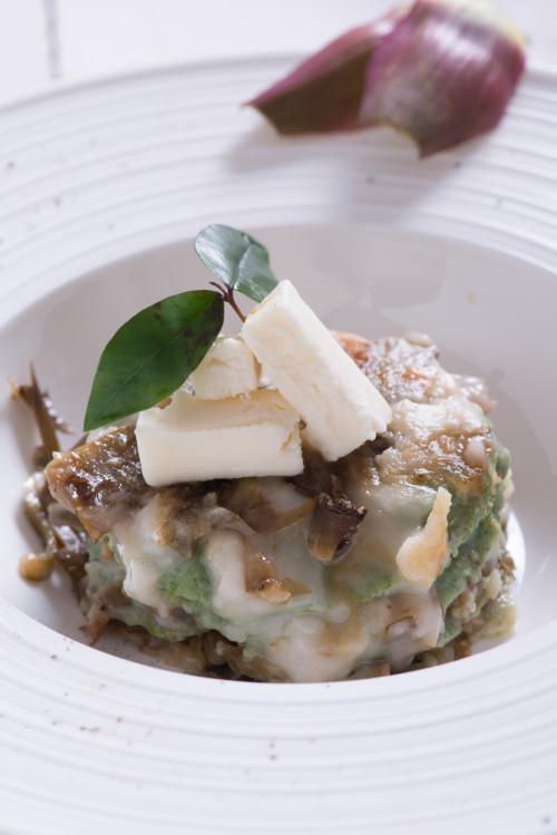 Lasagnette verdi ai carciofi e taleggio dello Chef Marco Scaglione, fotografo Iuri Niccolai - Gluten Free Travel and Living
