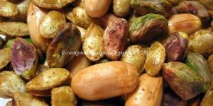 Semi di zucca tostati al garam masala con arachidi e pistacchi