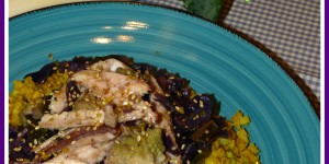 Cous cous 'finto' con ortaggi invernali e pesce azzurro