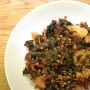 Insalata di bietole, lenticchie e patate.