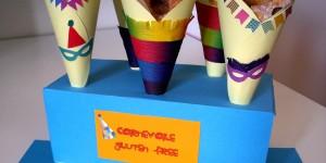CARNEVALE  senza glutine: coni porta-frappe