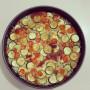 Teglia gratin di riso, zucchine e pomodori