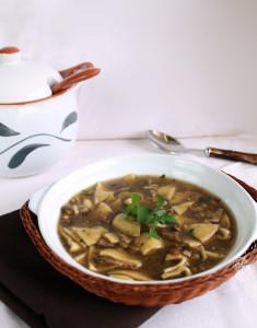 zuppa di funghi e maltagliati lacassata - Gluten Free Travel and Living