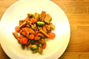 tempeh in padella - Gluten free travel and Living