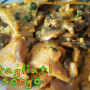 Maltagliati di sorgo e riso veg con funghi e zafferano