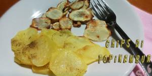 Chips di topinambur e patate al forno