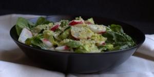 insalata di spinacino e zucchine marinate
