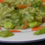 Risotto alle fave e crema di zucchine