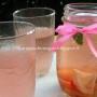 Acqua di pesca con basilico e limone