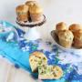 Muffins con pisellini e pomodori secchi