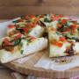 Focaccia con stracchino e zucchine gluten free