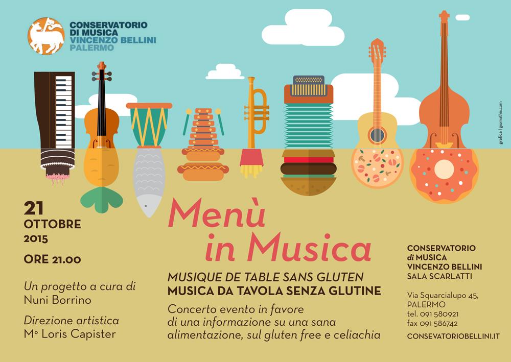 Menu in musica Conservatorio Bellini - Gluten Free travel & Living