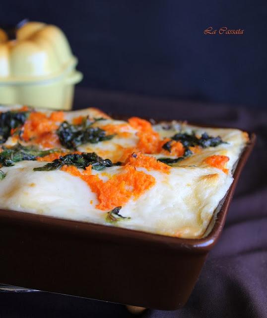 Lasagne con zucca e spinaci Di Sonia Mancuso