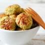 polpettine con broccoli speziati alla curcuma