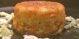 Sformatini di verza, riso e patate