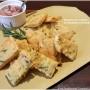 Panelle con crema di pancetta e rosmarino