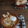 Vellutata di patate e zucca con funghi gluten free