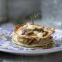 Lasagne ai funghi, ricotta e bacon
