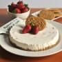 I biscotti di avena e una cheesecake alle fragole senza glutine