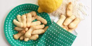 Lingue di gatto di riso e limone (senza glutine, senza uova, senza burro e vegani)