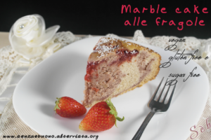 Marble cake con fragole Gluten free travel & Living