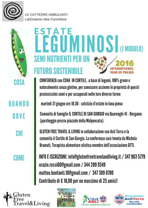 Locandina ESTATE LEGUMINOSI_ Gluten Free Travel & Living