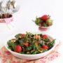 Insalata di spinaci, fragole e amaranto
