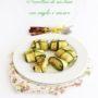 Involtini di zucchine con miglio e zenzero