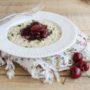 Risotto con ciliegie e robiola senza glutine