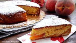 Torta soffice alle pesche - Gluten Free Travel and Living