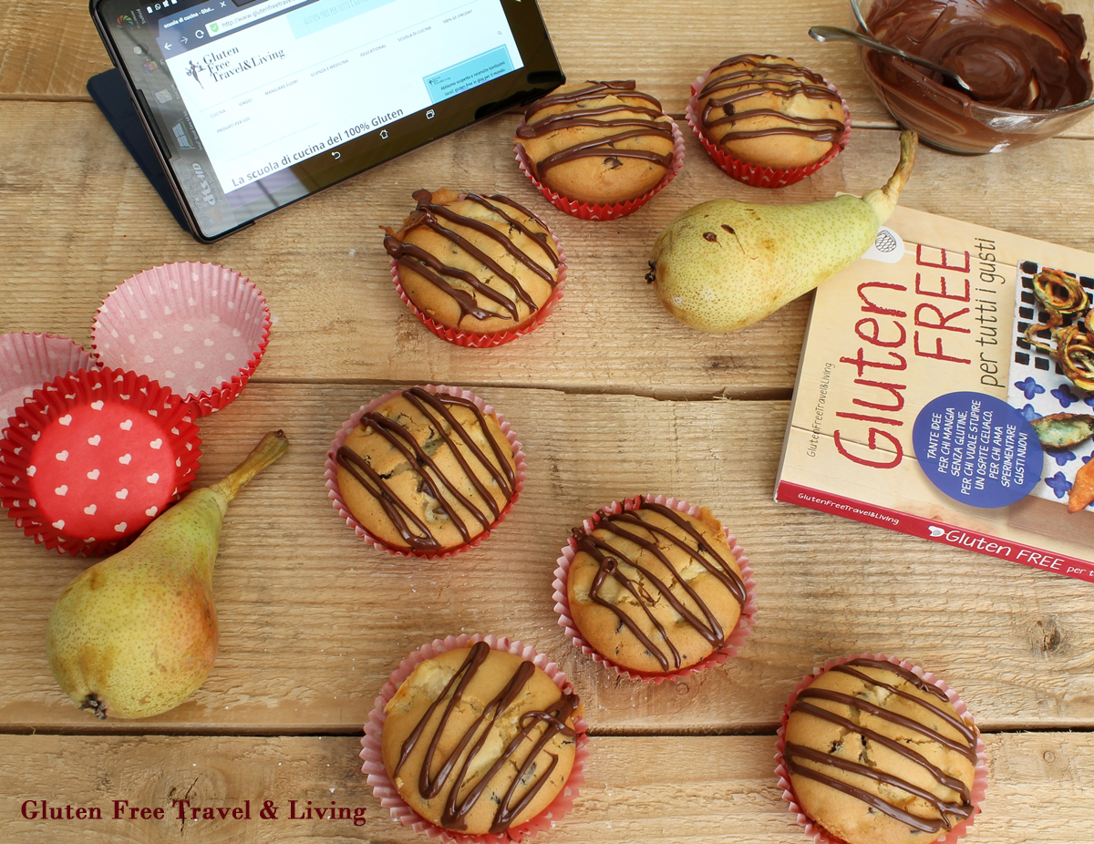 Muffins con pere e cioccolato senza glutine - Gluten Free Travel and Living